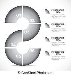creative grey infographics