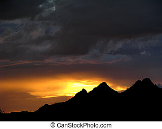 Storm and Mountain - Tucson Mountains