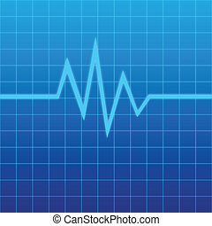 Lifeline - Illustration of a Screen of ECG graph