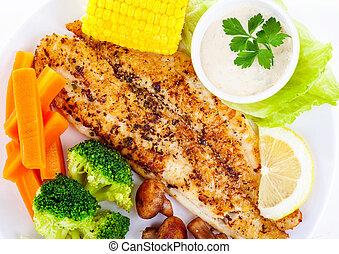 Tasty fish fillet