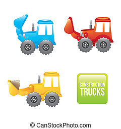 excavator cartoon over white background vector illustration