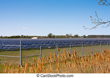 Solar farm - In Sarnia Ontario acres of farmland are covered...