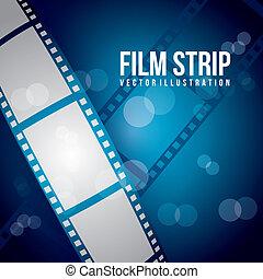 film stripe over blue background. vector illustration