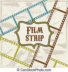 film stripe over beige background. vector illustration