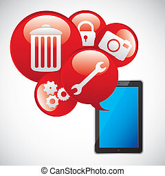 app icons - Illustration of icons of applications, app...
