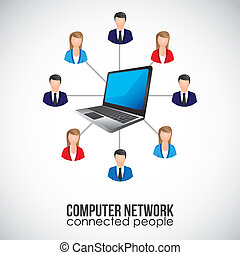 social networking - illustration of social networking and...