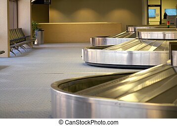 luggage area in an airport - An image of the luggage area in...