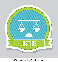 justice icon over gray background vector illustration