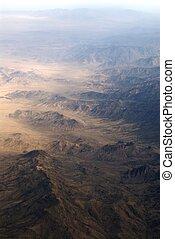 山, 範囲, 航空写真, 光景