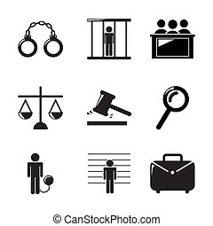 jail icons over white background. vector illustration
