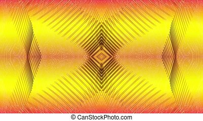 Abstract lines on a yellow backgrou