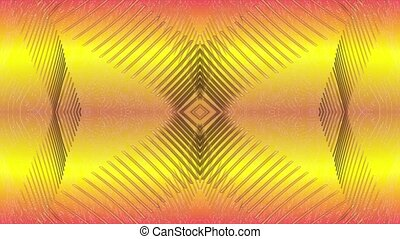 Abstract lines on a yellow background