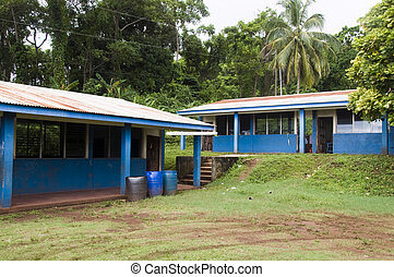 school rural nicaragua central america - school in jungle...