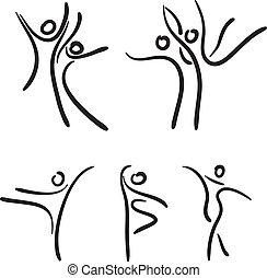 Ballet dancers. Vector illustration.