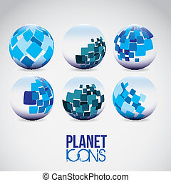 Planet icons