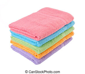 towel, bath towel on background. - towel, bath towel on the...