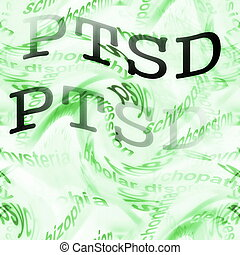 concept PTSD background, Posttraumatic stress disorder