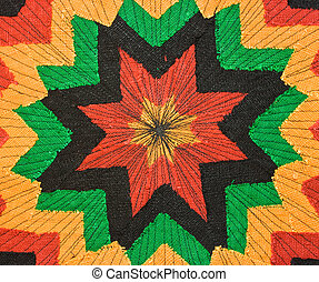 Fabric - Multicolor rastaman fabric as background