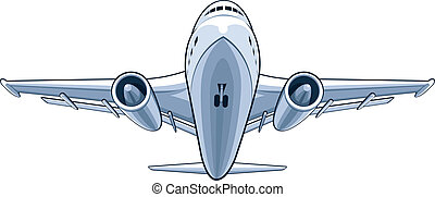 Airplane - A vector image of a front view from a airplane....