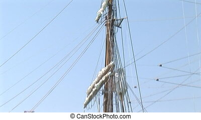 Foremast of a large sailing vessel - Foremast of the...