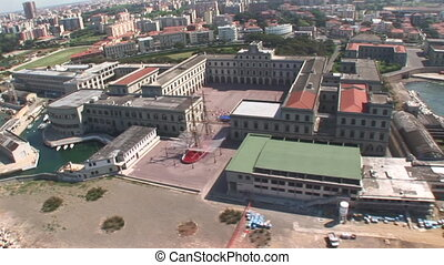 Italian Naval Academy in Livorno - Aerial view of the...