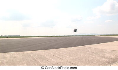 Military helicopter take-off - Military helicopter...