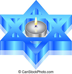 star of David with candle