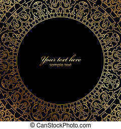 ornament on black background - Vector oriental ornament on...