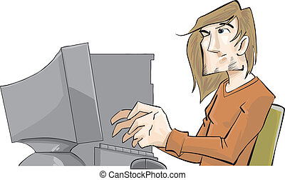 A guy with a computer problem