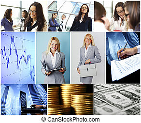Business conceptual collage - Conceptual business collage...