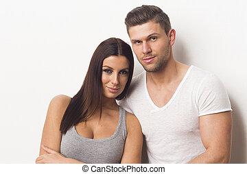 Sexy heterosexual couple