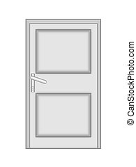shut the door to on a white background, isolated, raster...