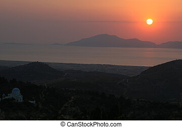 Sunset in Kalymnos island
