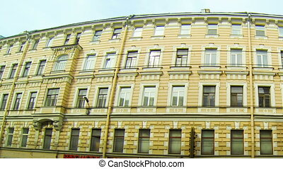 Facade of an old building in St Petersburg