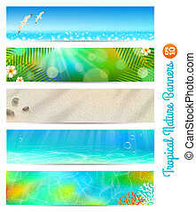Travel and natures vector banners