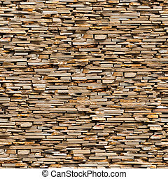 Seamless Texture of Brown Slate Stone Surface. - Seamless...