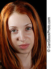 Pretty red head - Portrait of a young beautiful red head