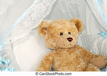 Waiting for baby - Stuffed teddy bear inside of a baby...