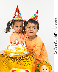 kids enjoying in a birthday party
