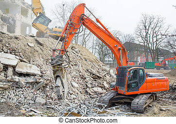 Block of flats demolition