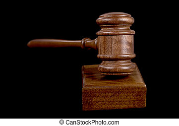 gavel on black - great image of a judges or auctioneers...