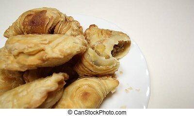 Curry Puff - Malaysian favourite snack, curry puff on a...