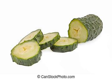 綠色, 黃瓜, 被隔离