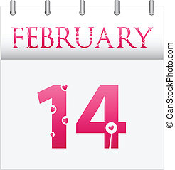 Valentines Day - February Valentines Day Calendar Date