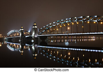 Peter the Great bridge of St Petersburg - Russia St...
