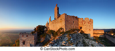 Ruins of castle - Panoramic view - Slovakia - Ruins of...