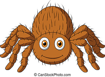 Cute tarantula spider cartoon - Vector illustration of Cute...