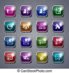 Glass web buttons