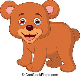 Cute baby bear cartoon - Vector illustration of Cute baby...