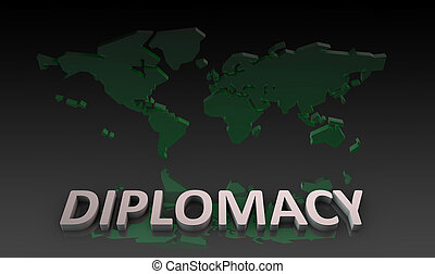 Diplomatic Relations Around the World in 3d